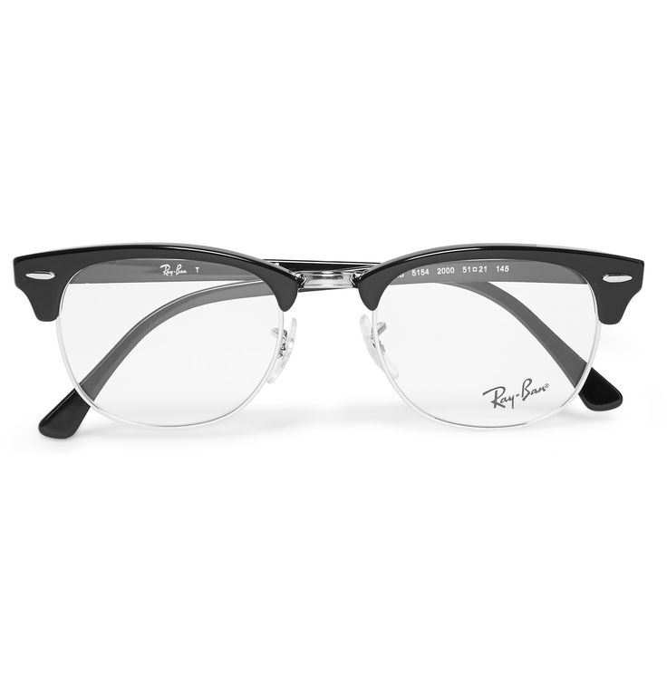 Exuding the design nostalgia of the 1950s, <a href='http://www.mrporter.com/mens/Designers/RayBan'>Ray-Ban</a>'s iconic Clubmaster frames are an investment in classic cool. These glasses have been expertly assembled in Italy from black acetate and silver metal for assured quality. Fit them with your choice of prescription or UV-protective lenses.