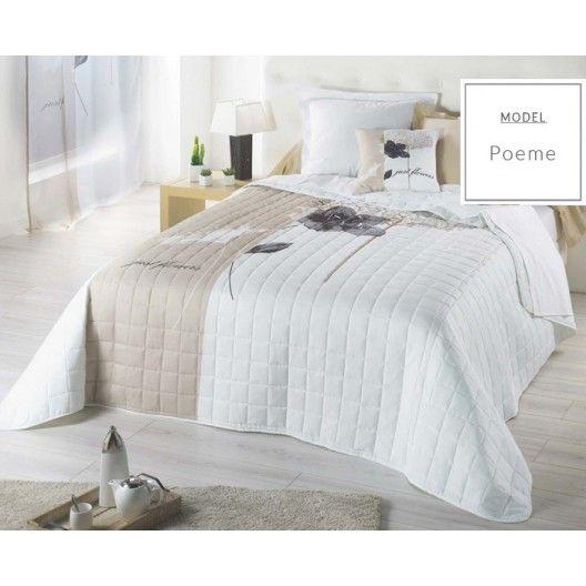 Biele prehozy francúzske na posteľ