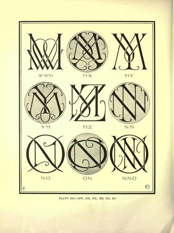 Monograms  ciphers...many styles