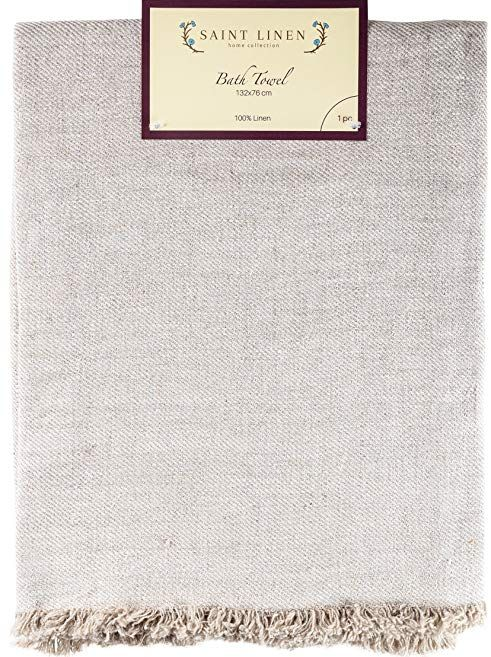 Pure Linen Bath Towel Size 33 X 57 Prewashed 100 Flax Natural