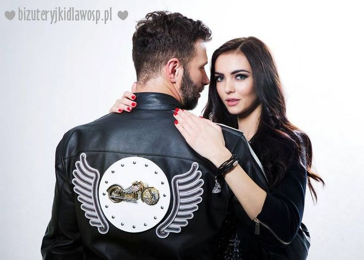 Wild Eagle - motorcycle jacket for the charity auction GOCC http://bizuteryjkidlawosp.pl/10_sutasz_pr_6_motokurtka_i_bransoletki/