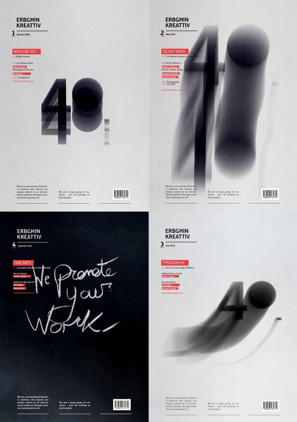 Erbgħin Kreattiv Magazine Covers on Behance