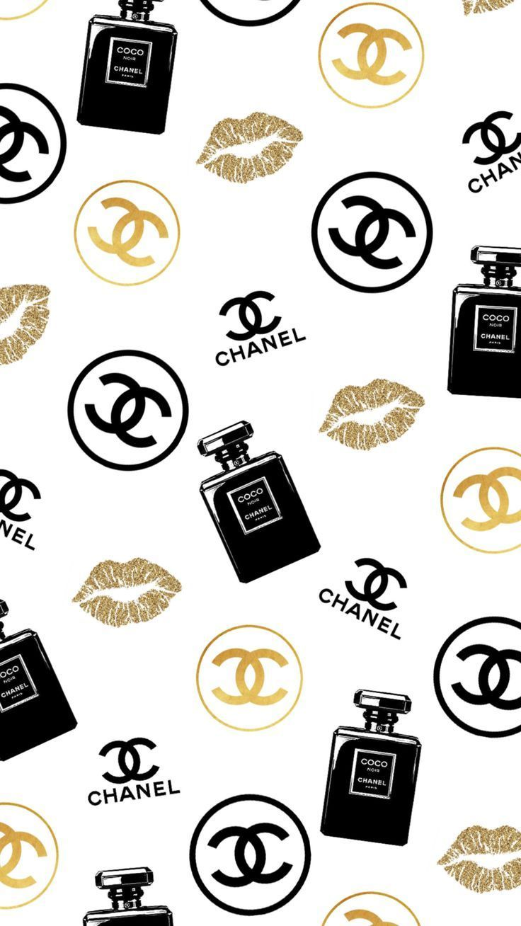 Versace Perfume In Iphone Wallpaper Girly Chanel Art Chanel Decor