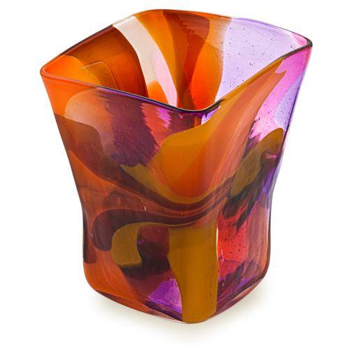 Naia Pot Vase. Purchase direct with international shipping: https://www.mdinaglass.com.mt/eshop-online/vases-bowls/naia/nai-336.html