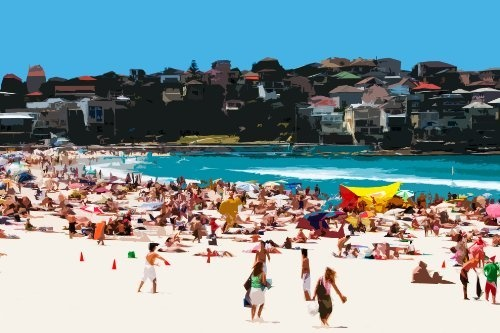A Day at the Beach XIII, South Bondi Beach | Abstract 8x12 by Tom Hawkins Photography, http://www.amazon.com/dp/B00C4EPX52/ref=cm_sw_r_pi_dp_1Omwrb0XP5M93