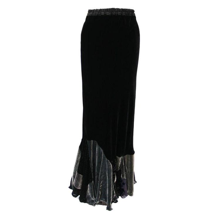 Flamenco Skirt in Black / Misted Silver