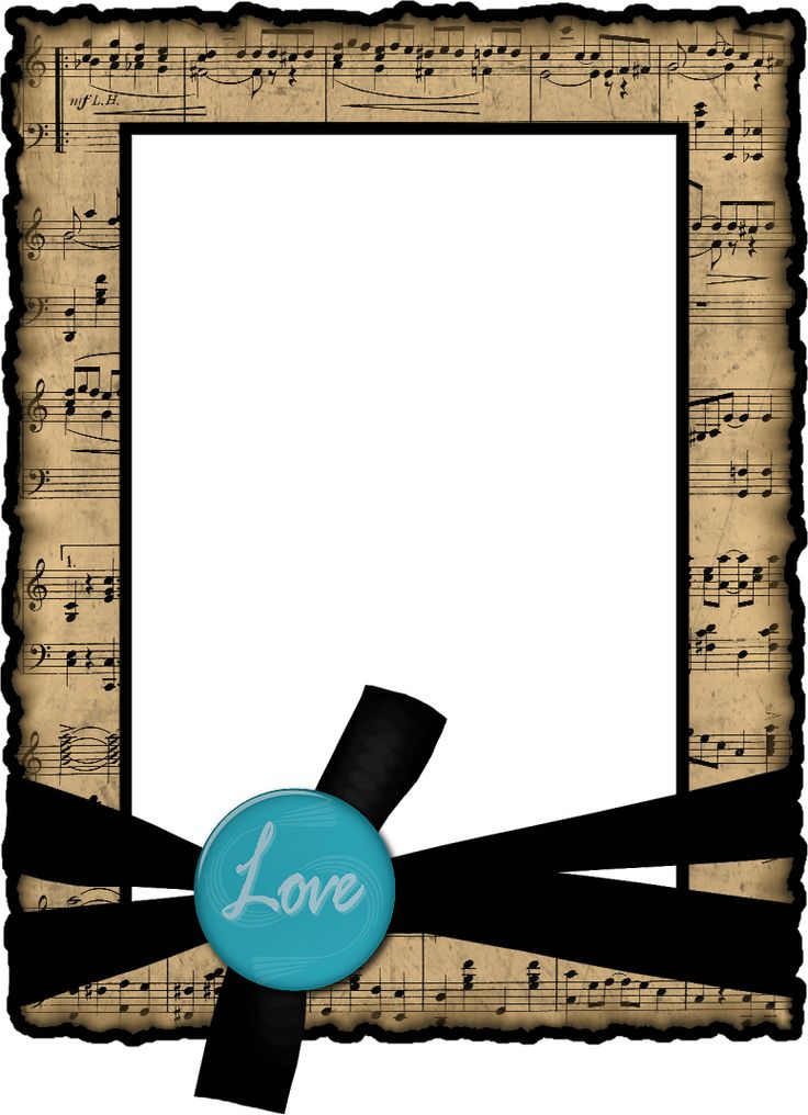 Create with TLC: Music Freebie..... Love frame .png file