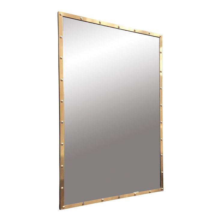Nautical Brass Frame Mirror - Image 1 of 9