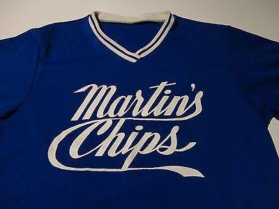 Vintage 70's POTATO CHIP COMPANY Softball Team Jersey FREE Shipping size Small