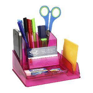 Desk Organiser Tinted Pink
