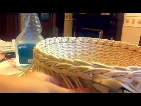 Мастер класс загибки из газетных трубочек - YouTube