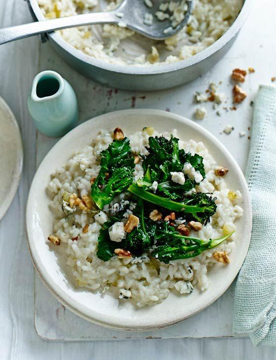 Gorgonzola and broccoli risotto