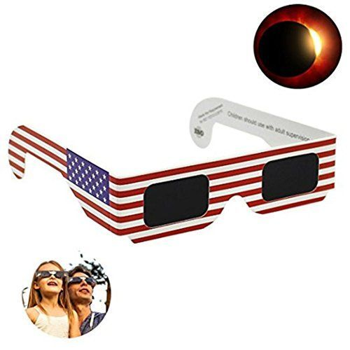 Solar Eclipse Glasses 2017 Galaxy Edition (10 Packs) CE and ISO Standard Viewing Feature: 100% Brand New & Good Quality The BEST Solar Eclipse Event You Ever Watch with Special Galaxy 2017 Edition Sol...