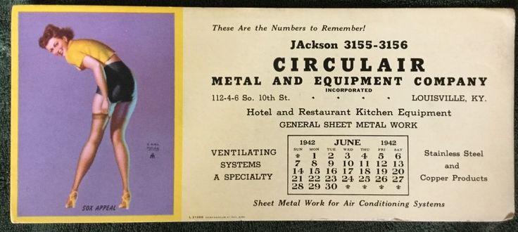 Antique 1940s EARL MORAN Pinup 1941 Calendar Ink Blotter Retro Advertising  #Vintage