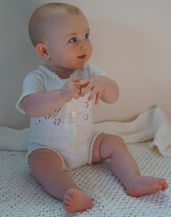 """""""SUMMER LAYETTE onesie"""" ~ Onesies are one of the best creations for babies and toddlers. They're great for easy access to diaper changing, they come in a variety of styles, they are comfortable for baby, and they can be used as a cool, summer outfit or a winter underwear. Plus, they are mostly quite inexpensive. A great addition to your baby's wardrobe!"""