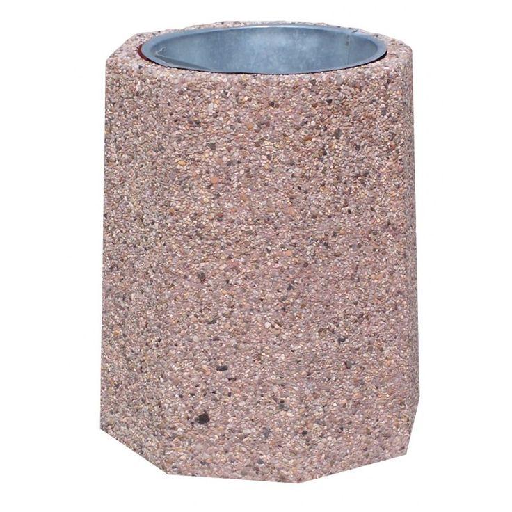 kosze betonowe, kosze na śmieci, kosze na smieci, mała architektura miejska, Kosz ośmiokątny 40 litrów