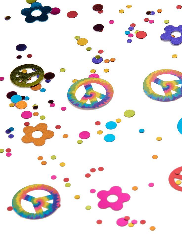 Coriandoli Hippie 34 gr su VegaooParty, negozio di articoli per feste. Scopri il maggior catalogo di addobbi e decorazioni per feste del web,  sempre al miglior prezzo!