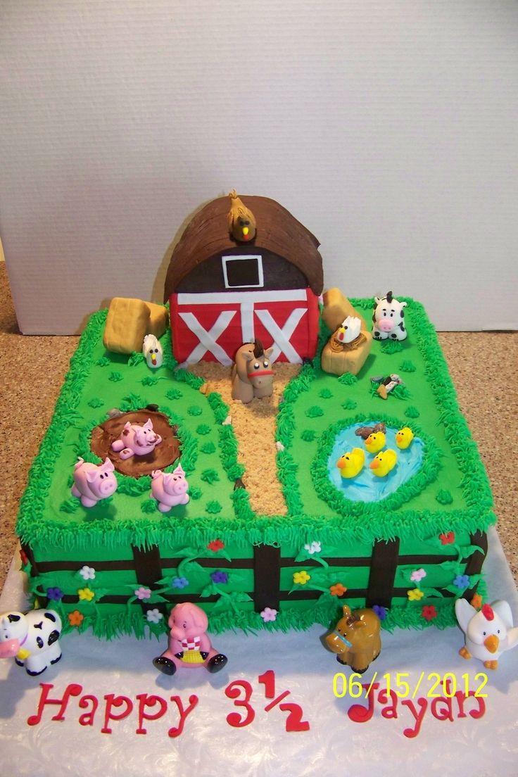 Barnyard Animal Cake on Cake Central