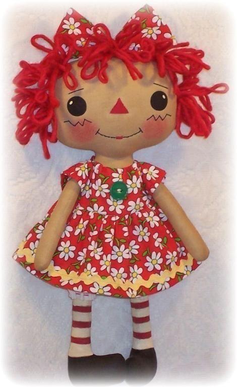 (9) Name: 'Sewing : Sweet Annie Rag Doll Pattern Raggedy Ann