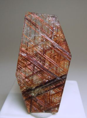 Red Rutile in Quartz