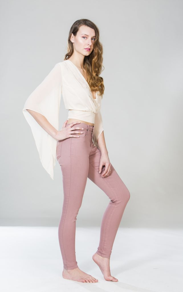 YOGA JEANS JEANS SKINNY ROSE TAUPE