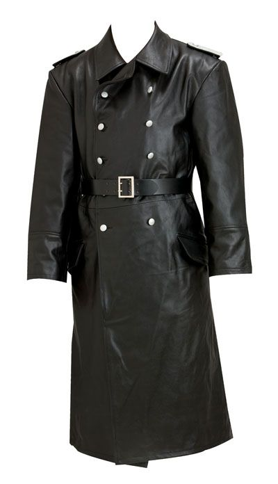 ww2 german leather officers leather trench coat gestapo