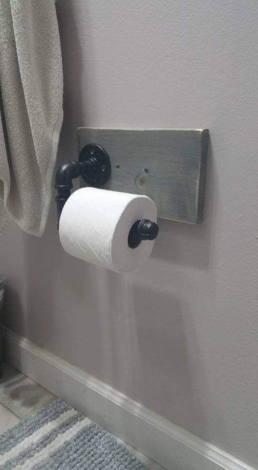 17 Best Ideas About Farmhouse Toilet Paper Holders On Pinterest Wood Iron Pipe Shelves And