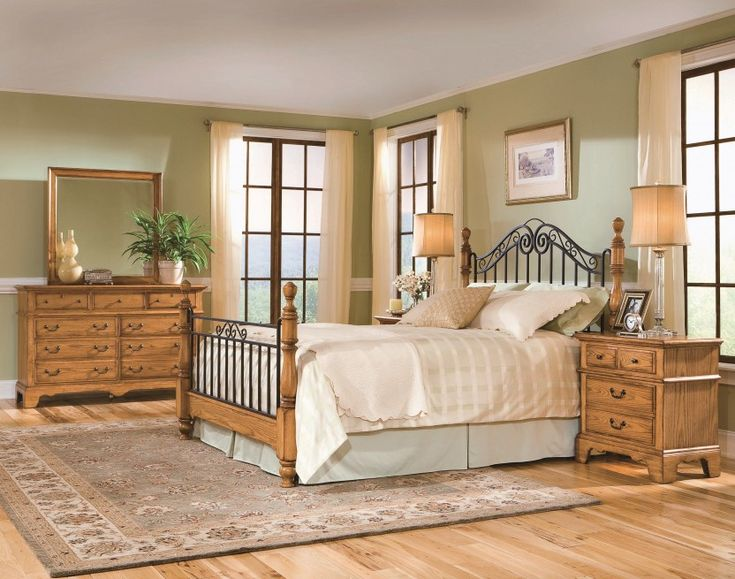 Discontinued Ashley Furniture Bedroom Sets Oak Furniture American Harvest Queen Iron And