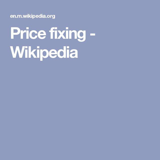 Price fixing - Wikipedia