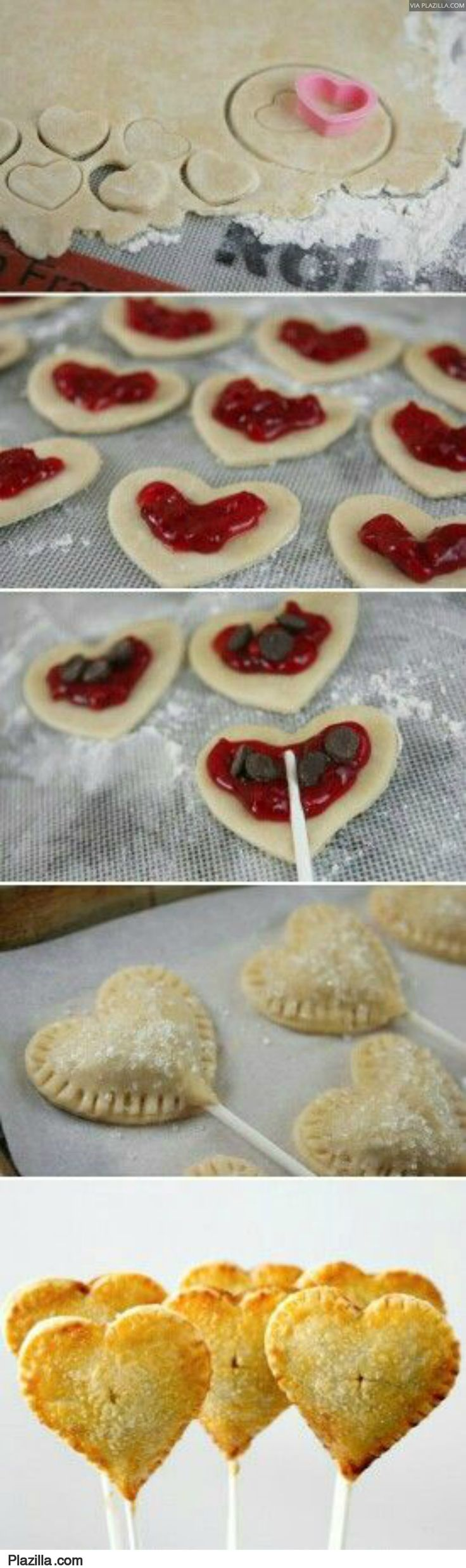 bladerdeeg lolly's...hartjes voor valentijn en sterren voor kerst