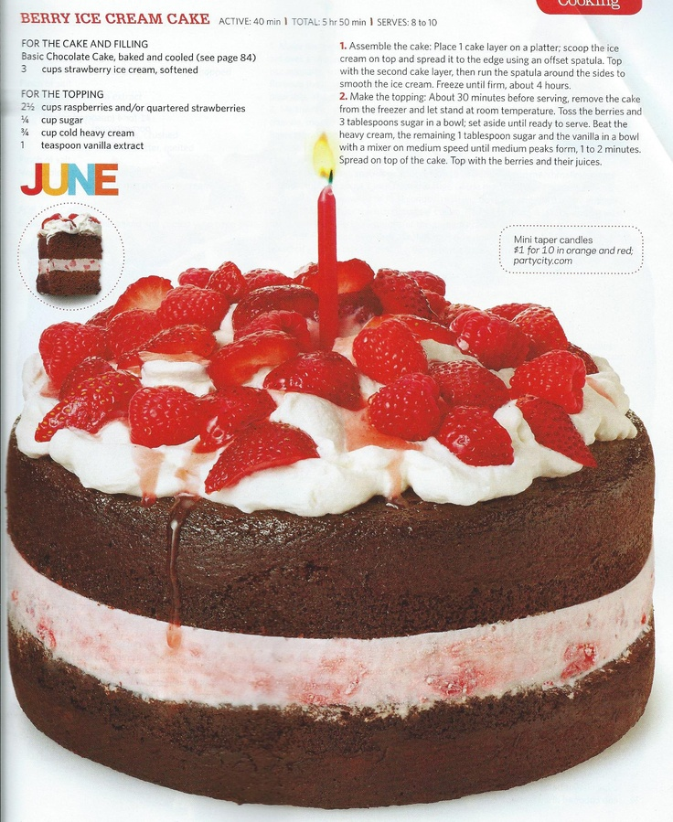 Berry Ice Cream Cake | Cake Ideas | Pinterest