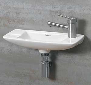 Whitehaus White Small Wall Mount Basin W/ Right Hole · Basin SinkBathroom  ...