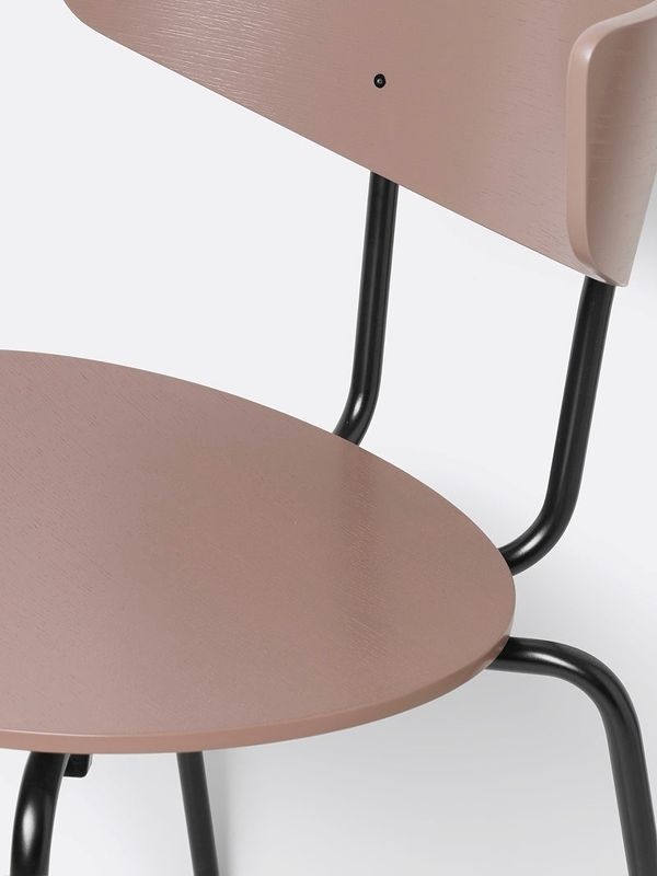 Ferm Living Herman Chair In Dark Rose Danish Furniture Design