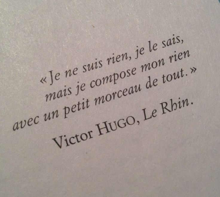"Victor Hugo, Le Rhin. english translation: ""I am nothing , I know , but I made ​​up my anything with a little bit of everything.""                                                                                                                                                      More"