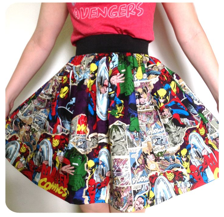 Just made Caleb some pj's out of this fabric...now I can make myself a matching skirt! :) DIY sew a simple geeky gathered skirt
