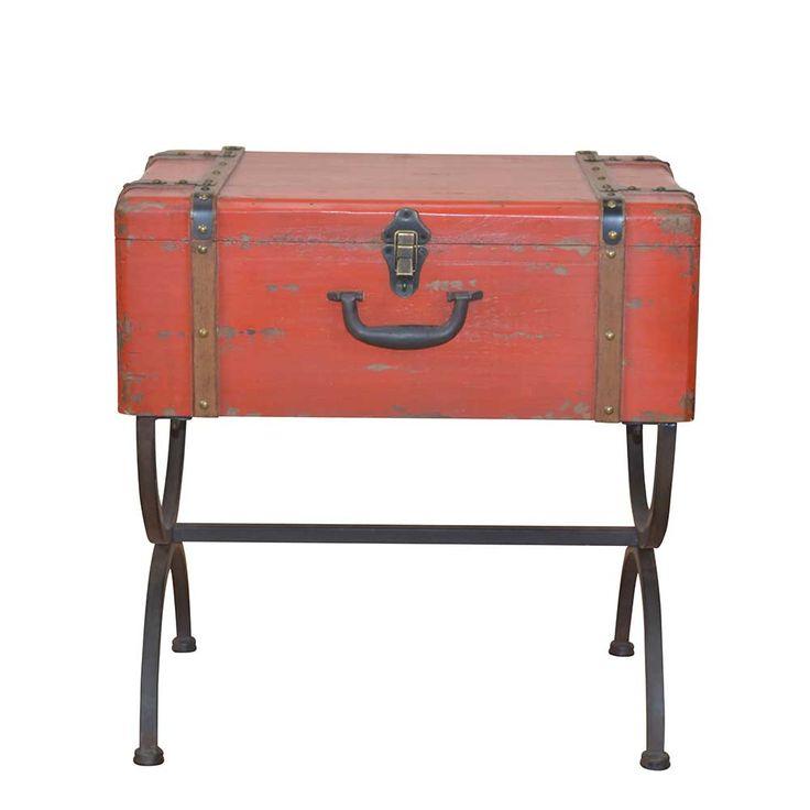 Koffer Beistelltisch In Rot Schwarz Metall Jetzt Bestellen Unter Moebelladendirektde Wohnzimmer Tische Beistelltische Uid9b277f5e A571 5539