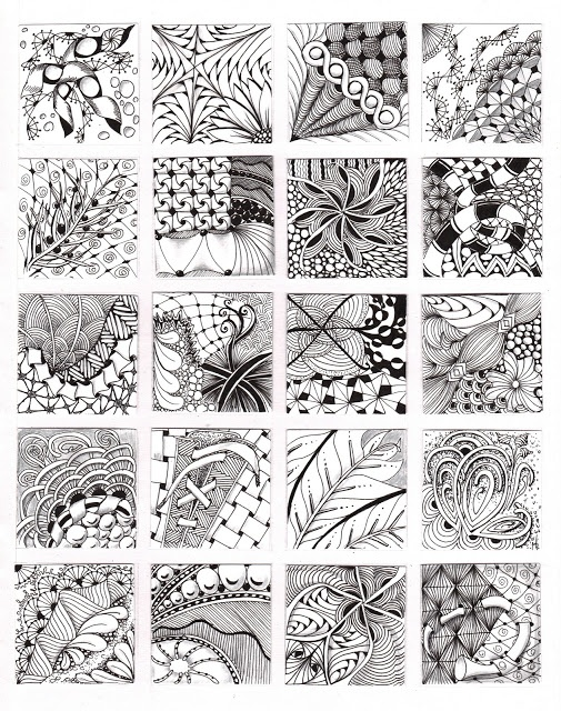 Line Art Zendoodle : Best zentangle pattern samples images on pinterest