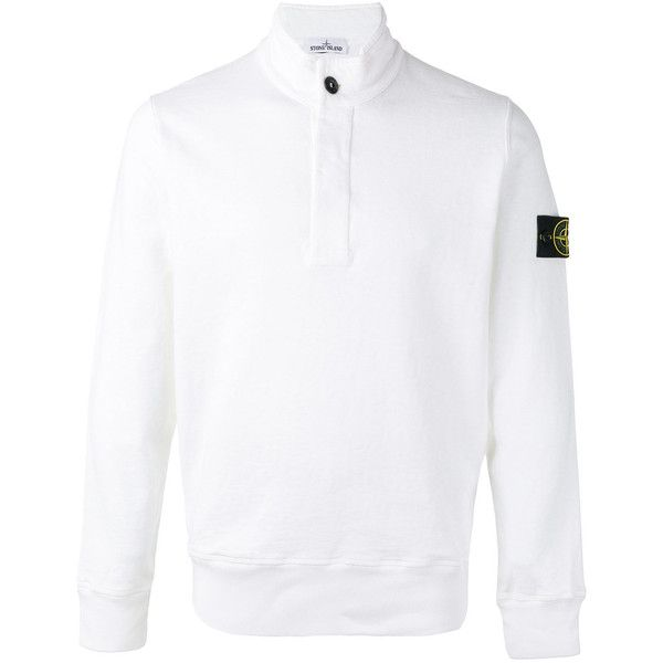 Stone Island turtle neck jumper ($238) ❤ liked on Polyvore featuring men's fashion, men's clothing, men's sweaters, white, mens white sweater, mens white turtleneck sweater, mens turtleneck sweater and mens cotton sweaters