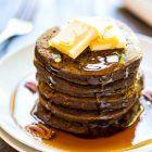 Healthy Pumpkin Pancakes {Made in the Blender!}