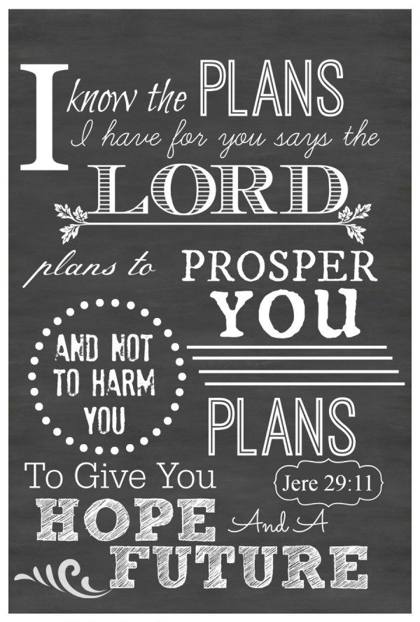 """I KNOW THE PLANS I HAVE FOR YOU"" CHALKBOARD PRINTABLES - StoneGable"