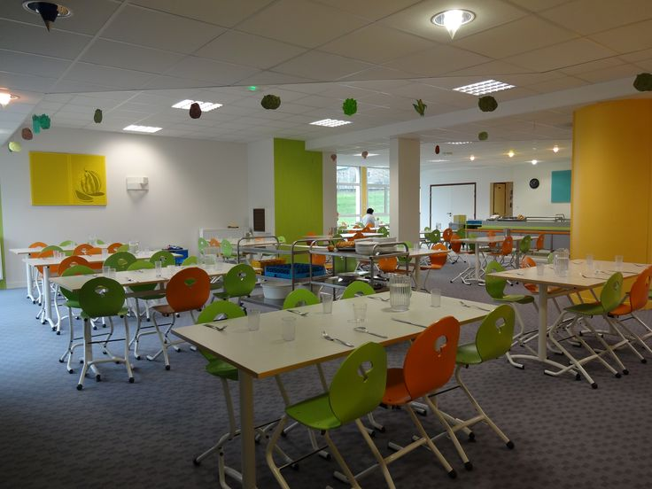 Restaurant scolaire maternelle avec chaise appui sur table - Restaurant carte sur table cavaillon ...