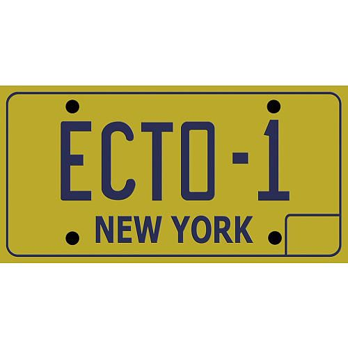 Ghostbusters ECTO-1 License Plate -  Diamond Select:  A great gift from my buddy Lucas.