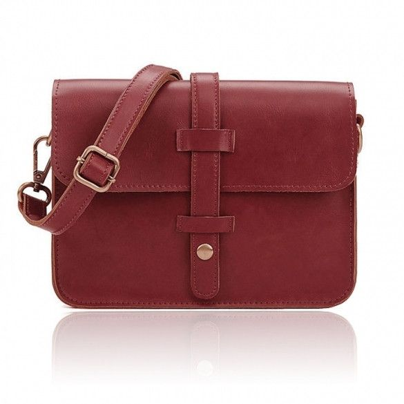 Vintage Women Designer Cross Satchel Messenger Shoulder School Handbag Bag