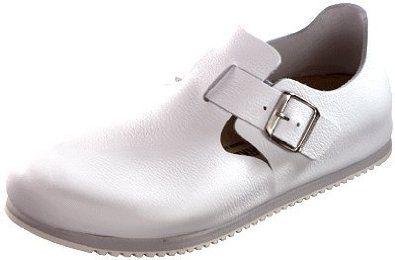 Birkenstock from Leather in White 37.0 EU R Birkenstock. $110.19
