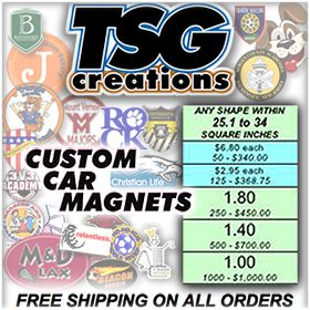 http://www.TSGcreations.com dares you to compare our pricing & quality with anyone. Custom Car Magnets #promote a #business #sports #Camp with #value & #impact. Custom #CarMagnets, Custom Balls (#customballs #Soccer), & #Decals from TSG & the REAL #tsgsports, http://www.TSGsports.com