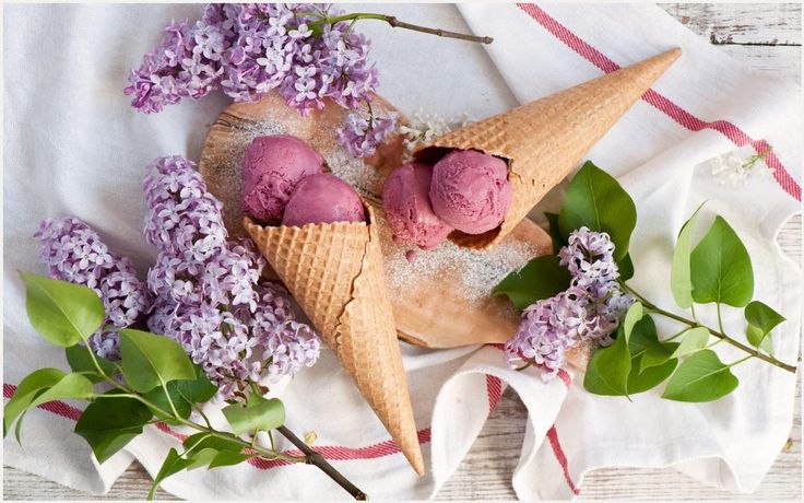Cone Ice Cream And Lilac Flowers Wallpaper | cone ice cream and lilac flowers wallpaper 1080p, cone ice cream and lilac flowers wallpaper desktop, cone ice cream and lilac flowers wallpaper hd, cone ice cream and lilac flowers wallpaper iphone