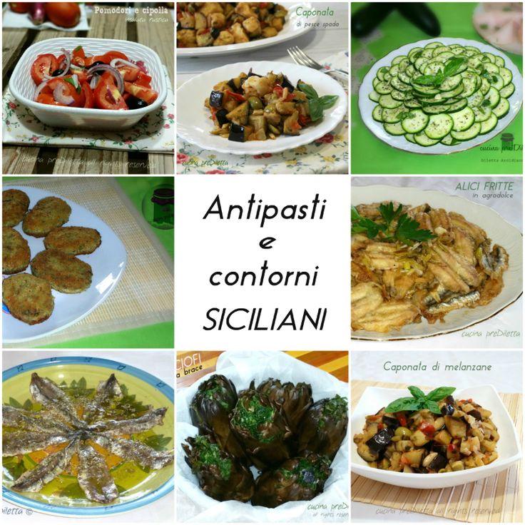 Ricette di antipasti e contorni siciliani - cucina preDiletta