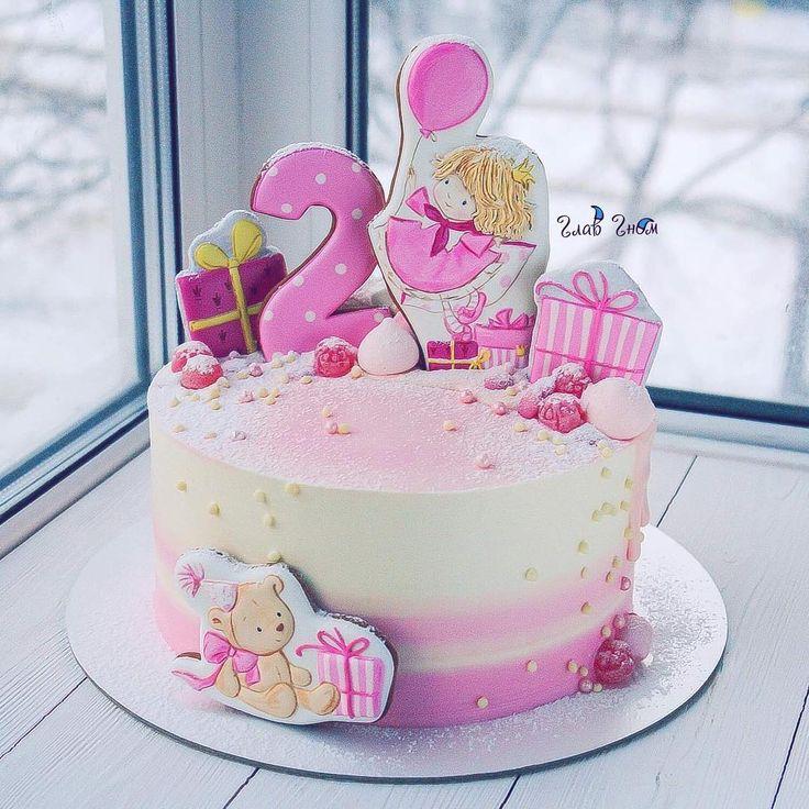 """763 Likes, 15 Comments - Elena Elkina-Kovaleva (@glavgnom) on Instagram: """"Мне очень нравится делать тортики на первый день рождения малышей Все родители подходят к выбору…"""""""