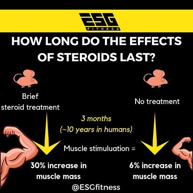 How long do the effects of steroids last after you stop using them