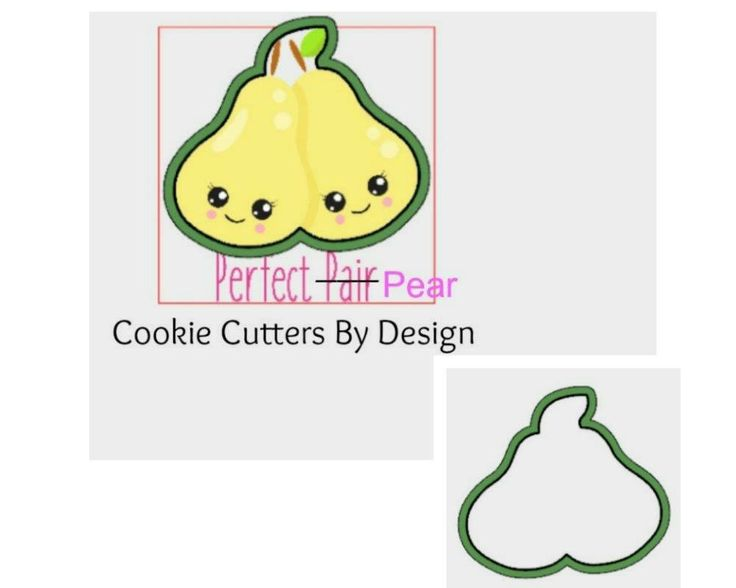 Valentine's Cookie Cutter / The Perfect Pear Cookie Cutter / Love Cookie Cutter / 3D Printed Cookie Cutters / Cookie Cutters by CookieCuttersByDsgn on Etsy